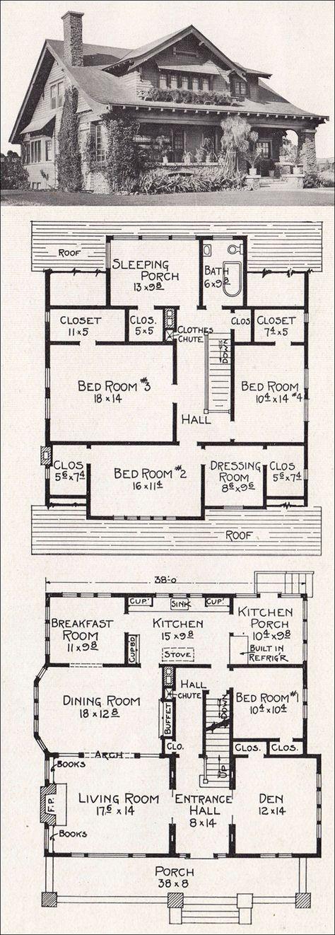 1918 Stillwel - Bungalow Plan - R88 // ideas for room placement