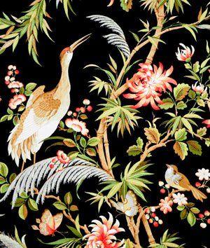 Waverly Garden Images Black Fabric Onlinefabricstore Net Fabric Decor Designer Drapery Fabric Large Scale Floral