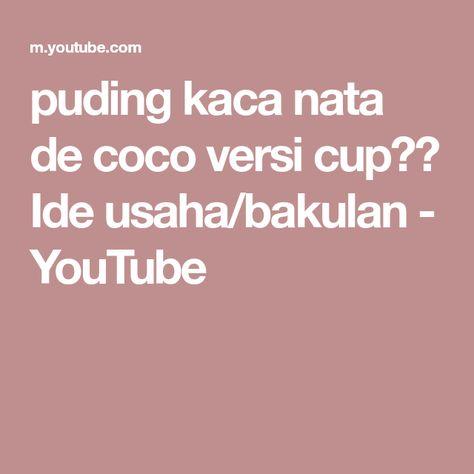 puding kaca nata de coco versi cup 🎏 Ide usaha/bakulan ...