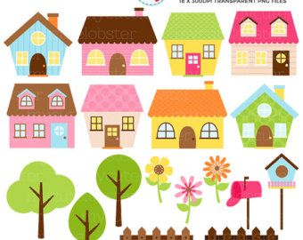 Painting Clipart Set Clip Art Set Of Paints Art Set Easel Brushes Personal Use Small Commercial Use Instant Download In 2021 Clip Art Art Set Little Houses