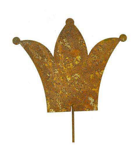 100cm Set Schmetterling Metall Rost 2 tlg Gartenstecker