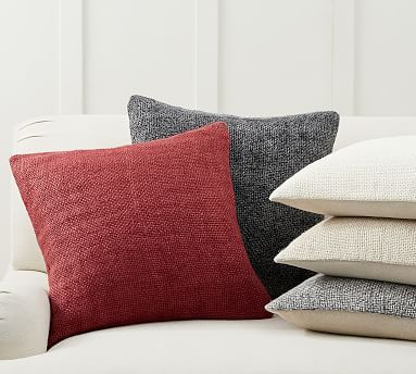 Faye Linen Textured Pillow Covers Pottery Barn Pillow Texture Embroidered Pillow Covers Pillow Covers