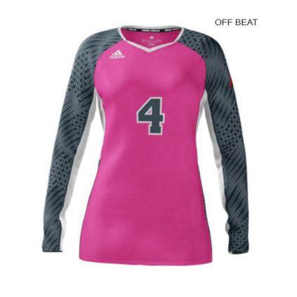 Adidas Women S Mi Team Custom Sublimated Long Sleeve Jersey Adidas Women Long Sleeve Jersey Women Volleyball