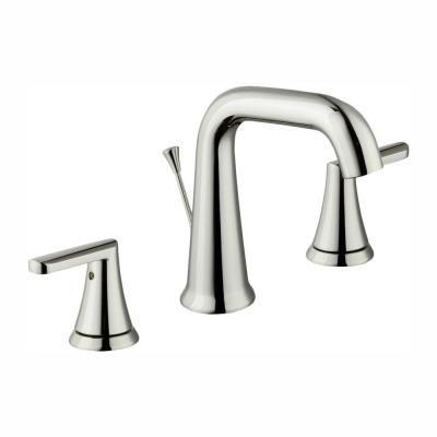 Glacier Bay Jax 8 In Widespread 2 Handle High Arc Bathroom Faucet