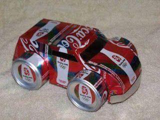 Haz Carritos Y Ollitas De Juguete Con Latas De Gaseosa Recicladas Haz Manualidades Latas De Aluminio Reciclar Latas De Cerveza Latas De Refresco