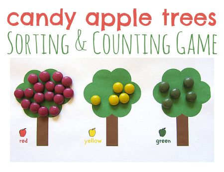 Candy Apple Math Game For Kids - Pinned by @PediaStaff – Please Visit ht.ly/63sNtfor all our pediatric therapy pins