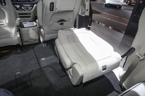 A Creative Ways To Use The Stow N Go Seating In Your New Chrysler Pacifica Minivan Van Cars Storage Automotive