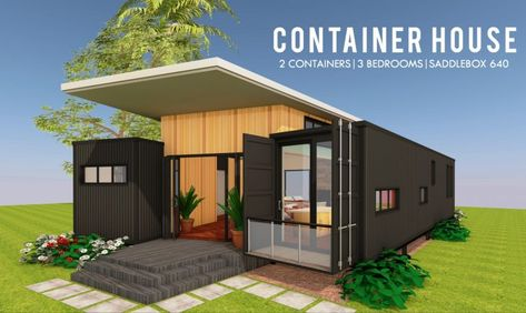 Modern Container House Design + Floor Plans