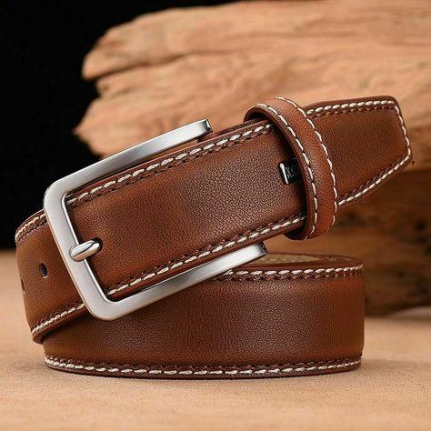 Cinturon de Cuero hombre Vintage Men Belt Luxury designer strap women Quality