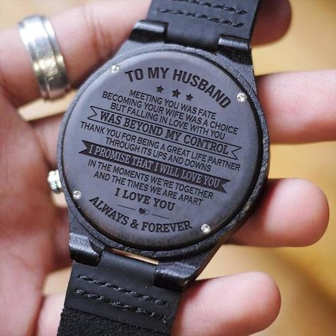 Great Gift For Men Engraving Wooden Watch - by HeavenKP on Zibbet