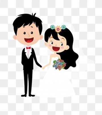Cartoon Pernikahan Romantis Perkawinan Romantis Kartun