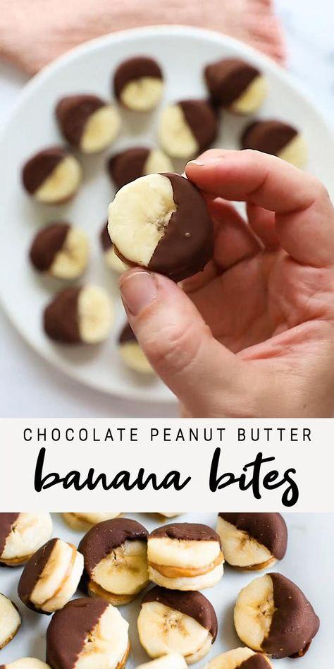 Chocolate Peanut Butter Banana Bites   Healthy Frozen Dessert Recipe    Healthy Ideas