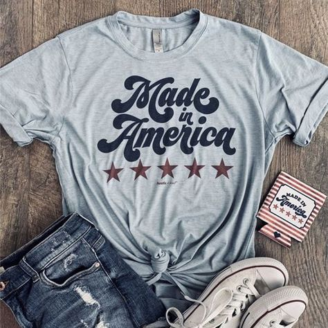 Made in America Tee Cute Country Outfits, Country Shirts, Western Outfits, Southern Outfits, Rodeo Outfits, Western Wear, Vinyl Shirts, Tee Shirts, Rodeo Shirts