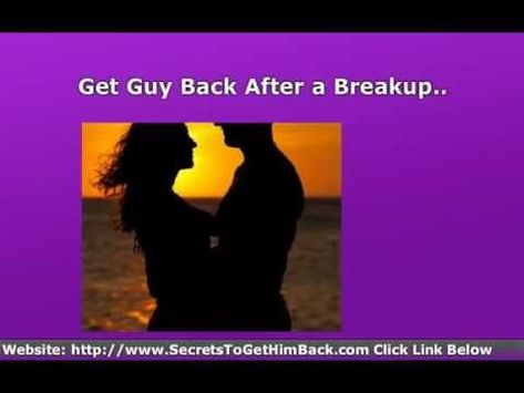 """http://www.reignitedrelationships.com/ghimb  Learn The """"Secret Psychology"""" You Need Of How To Get Guy Back After a Breakup. How To Get Him Back Fast"""