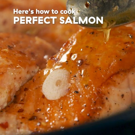 Love this version, but wanna switch up the flavors? Try swapping limes for lemons and cilantro for dill. Get the recipe at Delish.com. #delish #easy #recipe #salmon #pan #frying #fried #butter #seafood #dinner #withskin #castiron #crispy #withbutter