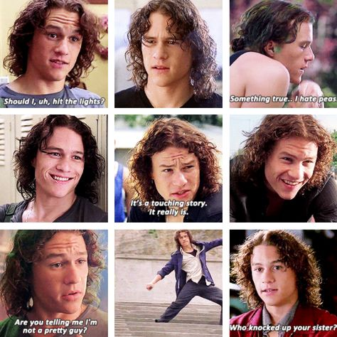 Personality and hair inspiration- Heath Ledger in 10 Things I Hate About You