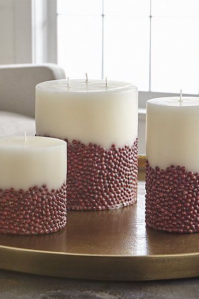 32 Festive Christmas Table Decorations To Brighten Up Your Feast Christmas Candle Decorations Christmas Table Decorations Candles