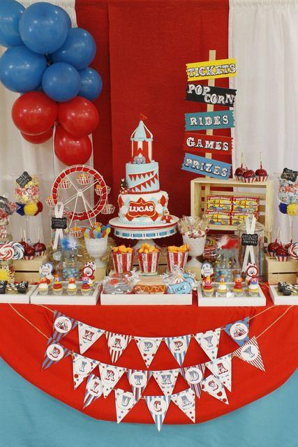 circus theme 1st birthday invitations Circus Birthday Party via