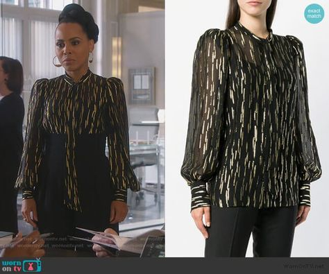 7b8403395ff949 Tegan s red leopard print blouse on How to Get Away with Murder in 2019