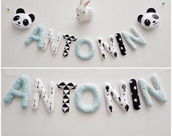 Newborn Gift Etsy Uk Fabric Letters