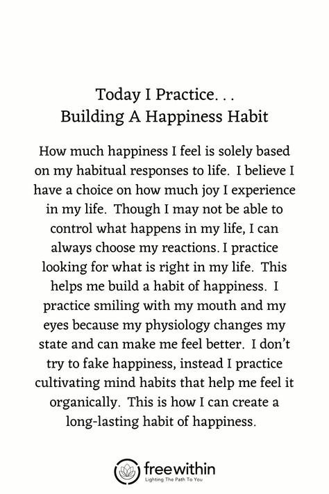 "Have you found that #affirmations don't really work for you? I had the same challenge. Try this #lifestrategy instead; it's called ""I Practice"". Practicing something helps you build #strength and #resilience and long-lasting #mindhabits. This week's life strategy is ""Building A Happiness Habit"". Practice this for a week and let me know how it goes for you. #happiness #happinesshabit #createjoy #gratitude #aligned"