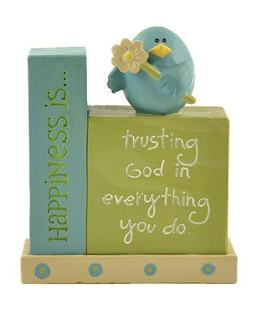 Take a look at this 'Trusting God' Bluebird Block by Blossom Bucket on #zulily today!