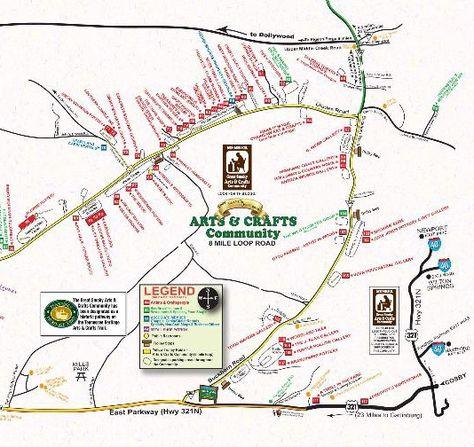 Gatlinburg Arts Crafts Community Loop Map Free Things To Do