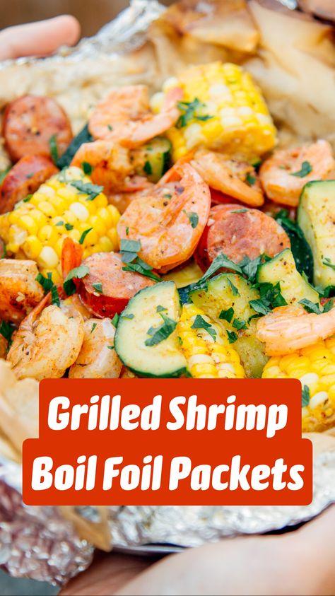 Grilled Shrimp Boil Foil Packets