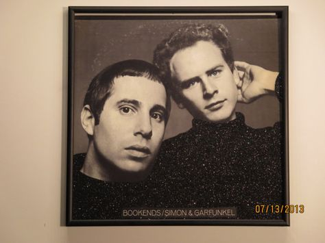Glittered Record Album Simon and Garfunkel Bookends by GlitterFX, $50.00