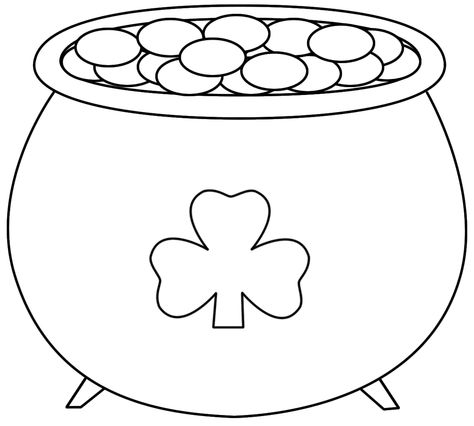 Pot Of Gold Printable Pot Of Gold Coloring Pages St Patricks