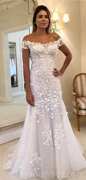 Off Shoulder Lace Mermaid Long Wedding Dresses Online Cheap Bridal Dresses Wd548 Online Wedding Dress Cheap Bridal Dresses Long Wedding Dresses
