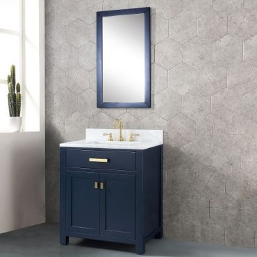 Water Creation Madison Vmi030cwmb 30 Monarch Blue Single Sink