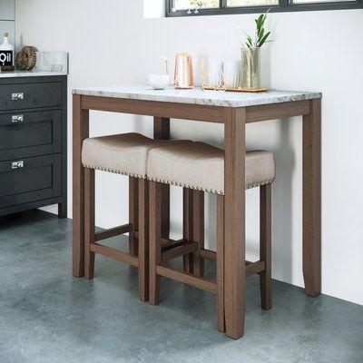 Charlton Home Rea 3 Piece Pub Table Set Wayfair Pub Table And Chairs Pub Table Sets Small Kitchen Tables