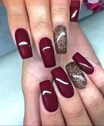 Nails Design Winter Fall 34 Best Ideas Dark Red Nails Red