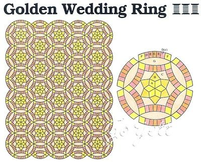 Golden Wedding Ring Quilt Pattern As Well As Quilt Inspiration Wedding Ring Quilt Inspiration And Fr Double Wedding Ring Quilt Wedding Ring Quilt Wedding Quilt