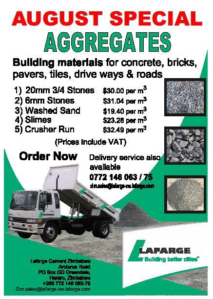 Lafarge Building Materials August Special Building Materials Pavers Concrete