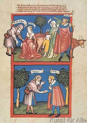 Rudolf von Ems - Rudolf von Ems/Laban b.Jakob/Buchm. 1411