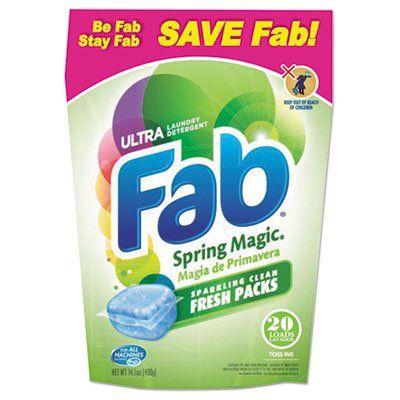 Fab Toss Ins 20 Pack 4 Packs Carton Laundry Detergent Powder