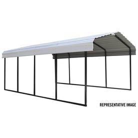 Arrow 12 17 Ft X 28 71 Ft Eggshell Metal Carport Cph122907 In 2020 Steel Roof Panels Steel Carports Metal Carports
