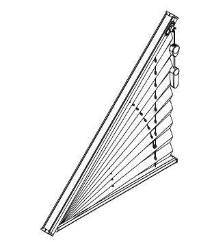 Store Plisse Triangle Adapte Aux Fenetres Triangulaires Rideau Fenetre Store Plisse Meuble Sous Pente