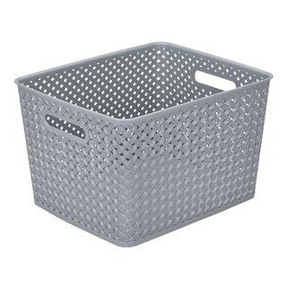 Sonoma Goods For Life Plastic Bin Kohls With Images Wicker Storage Bins Storage Bins Large Storage Totes