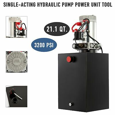 12v 21qt Single Acting Hydraulic Pump Power Unit For Car Truck Plow Rv More Ebay In 2020 Hydraulic Pump Power Unit Hydraulic