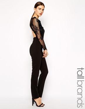 True Decadence Tall Lace Bodice Jumpsuit