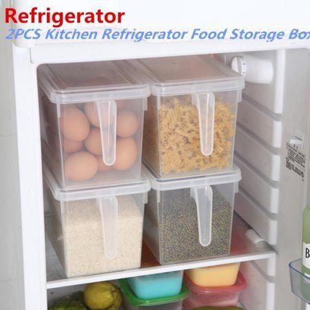 Home In 2020 Refrigerator Storage Food Storage Boxes Kitchen