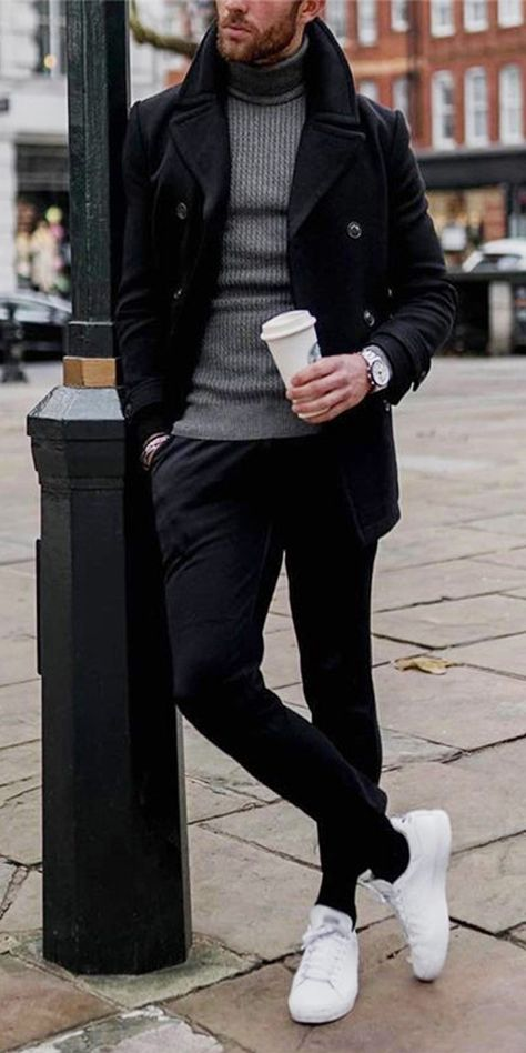 Men's Casual Fashion Double Sided Coat