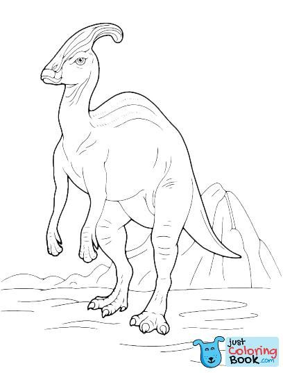 Parasaurolophus Dinosaur Coloring Pages Dinosaurs Pictures And