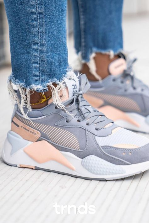 Puma RS-X Reinvent Grey Pink for Women. The women's PUMA RS ...
