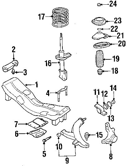 2001 Subaru Forester Exhaust System Diagram