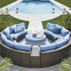 Pasadena Ii Modular Seating In Bronze Finish Backyard Pool
