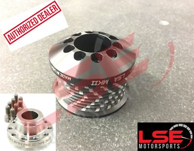 "2.35/"" Stainless GripTec V2 Supercharger Upper Pulley w//Hub LSA CTS-V Camaro ZL1"